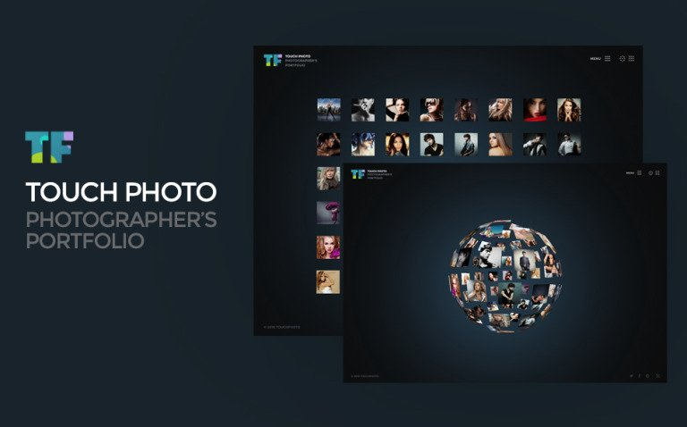 Touch Photo Website Template New Screenshots BIG