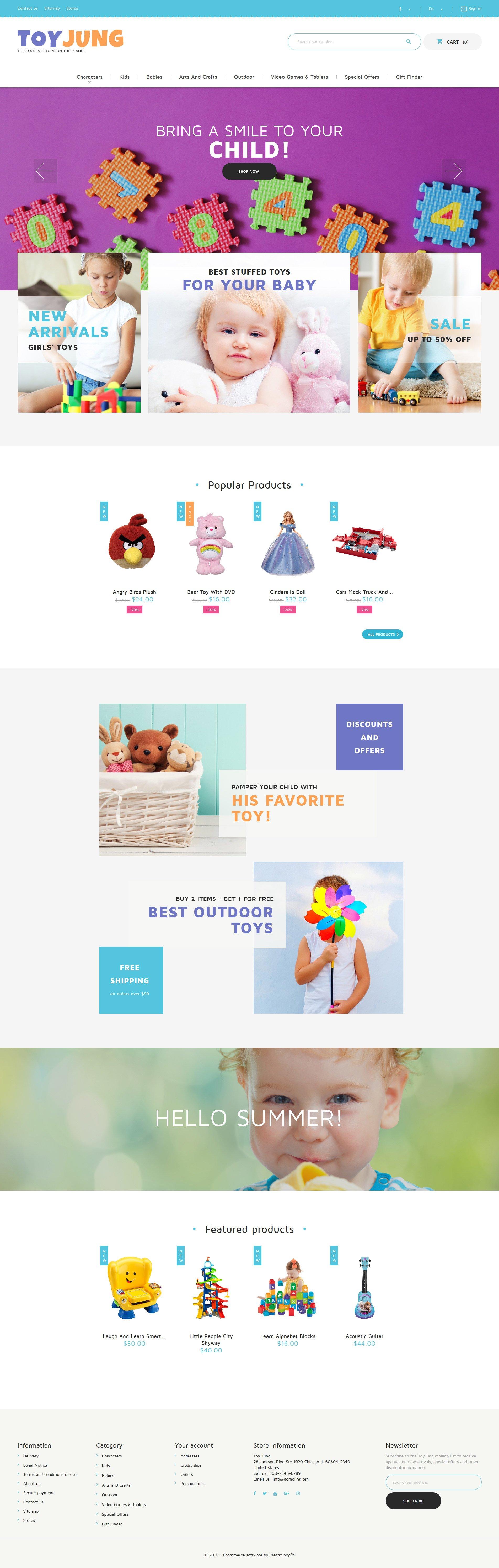 ToyJung - Toy Store Responsive PrestaShop Theme