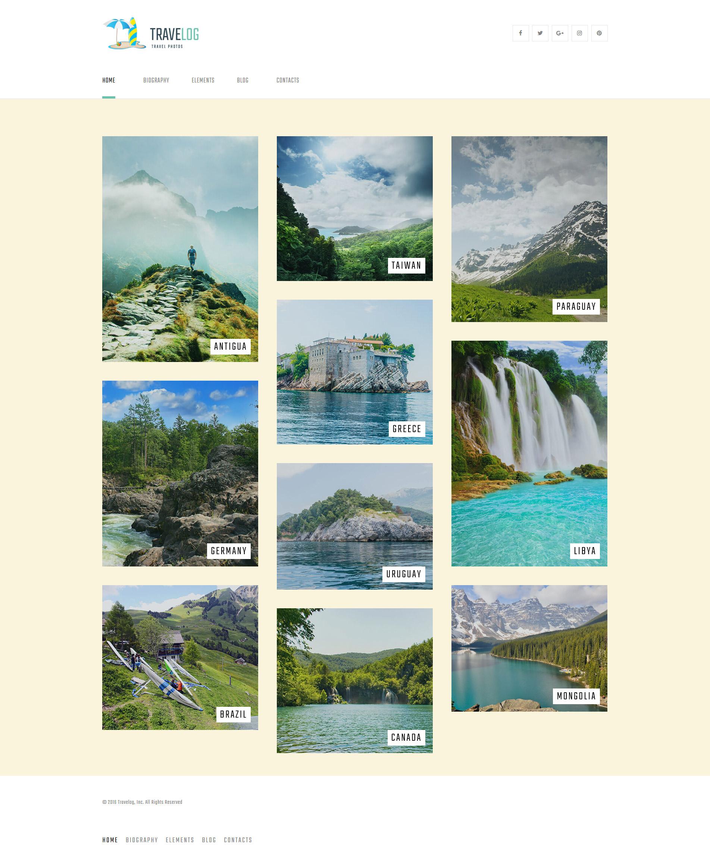 Travelog - Travel Photo Blog Tema WordPress №61328