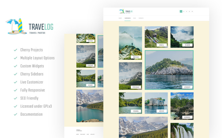 Travelog - Travel Photo Blog WordPress Theme New Screenshots BIG