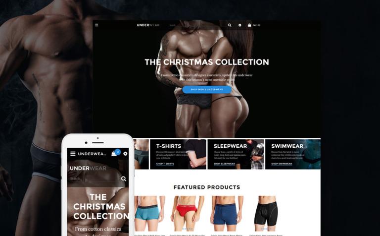 underwear shop opencart template