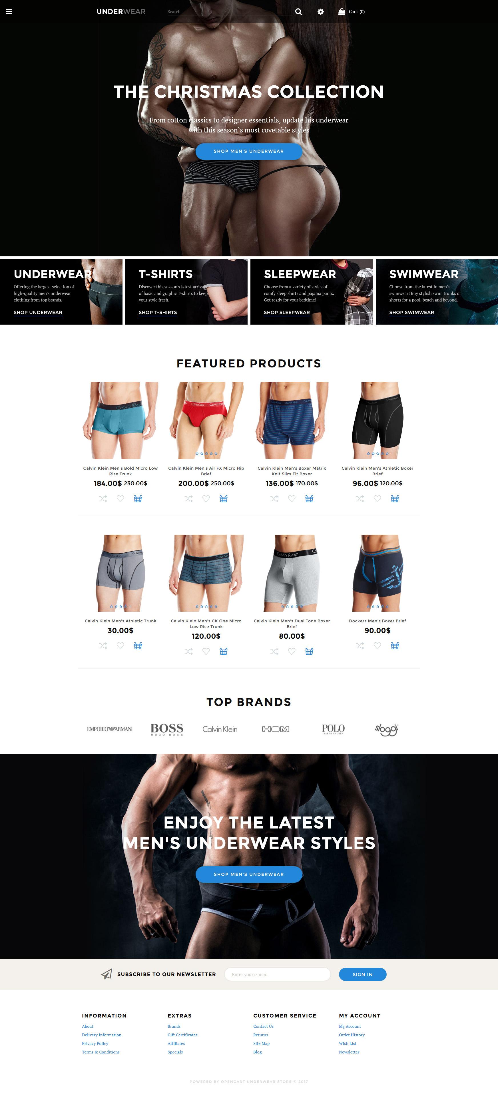 Underwear - Lingerie & Underwear Store OpenCart Template