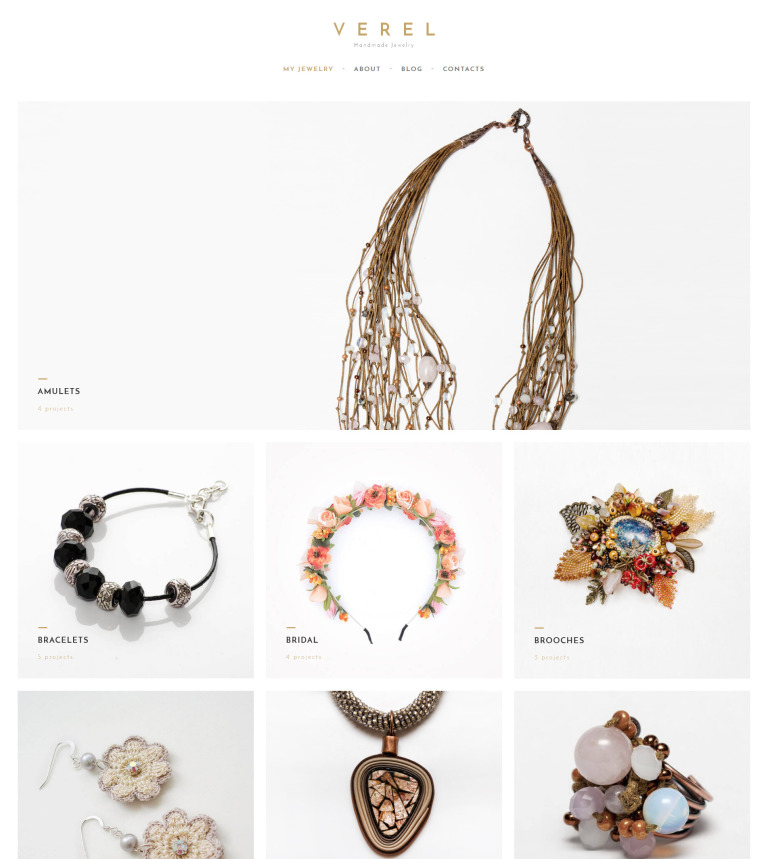 Fantastic Handmade Jewelry WordPress Theme SZ28