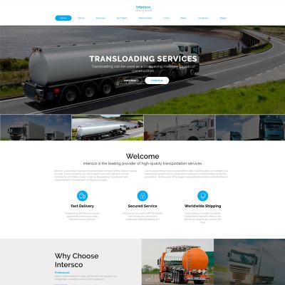 Berühmt Website Vorlage Für Transportunternehmen Ideen - Beispiel ...