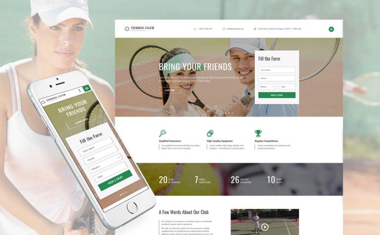 Website Vorlage #61395 für Tennis