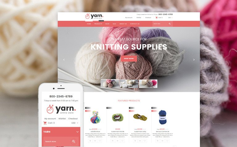 Yarn - Knitting Responsive Shopify Theme New Screenshots BIG