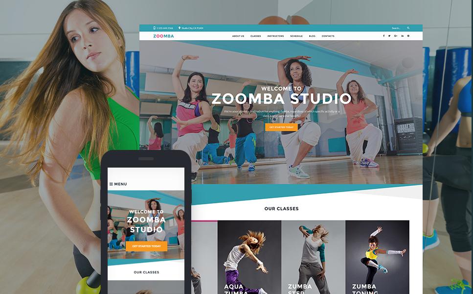 Zoomba - WordPress шаблон для сайта танцевальной студии
