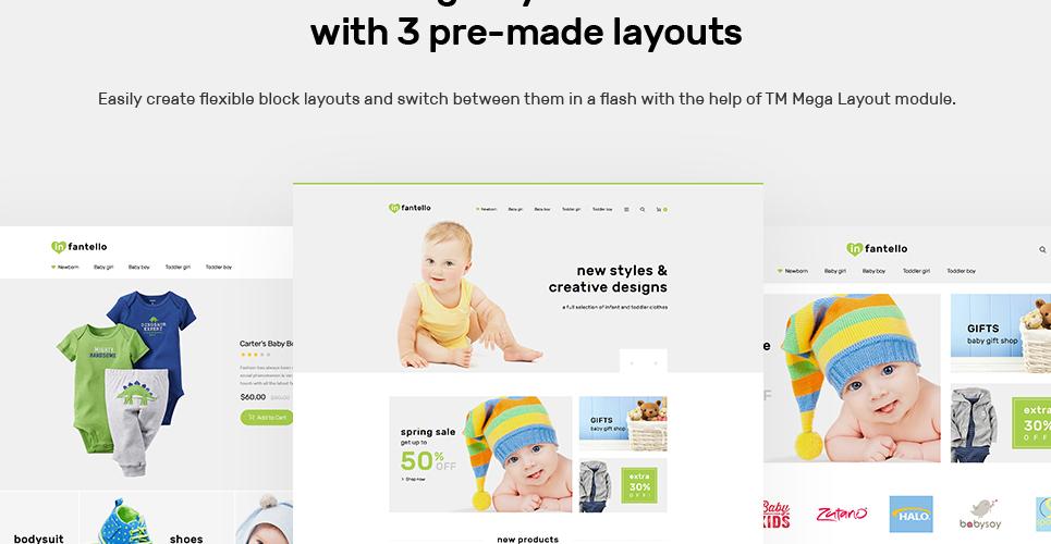 Infantello - Infant Clothing Store PrestaShop Theme