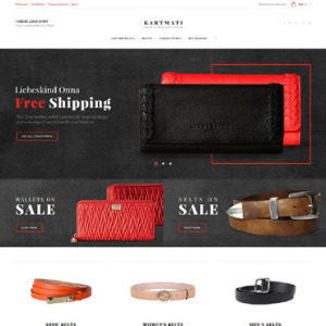 Screenshot of Karmati Belts Wallets