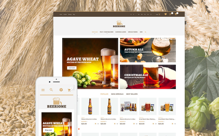 Beerione - Brewing Equipment Store PrestaShop Theme New Screenshots BIG