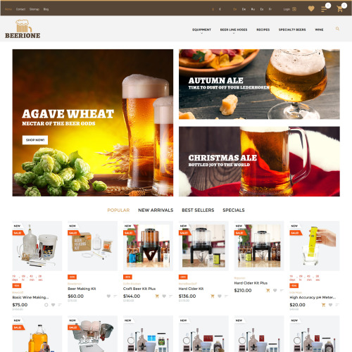 Beerione  - PrestaShop Template based on Bootstrap