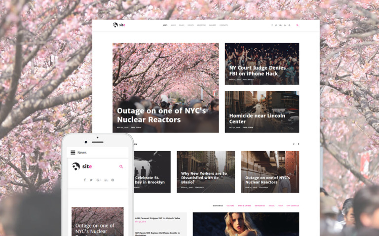 Bsite - News Portal Responsive Joomla Template New Screenshots BIG