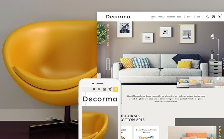 Decorma - Interior Design PrestaShop Theme Big Screenshot