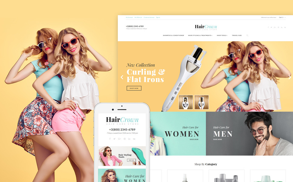 Magento шаблон для сайта салона красоты/парикмахерской
