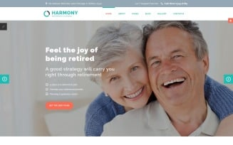Harmony - Retirement Planning Joomla Template