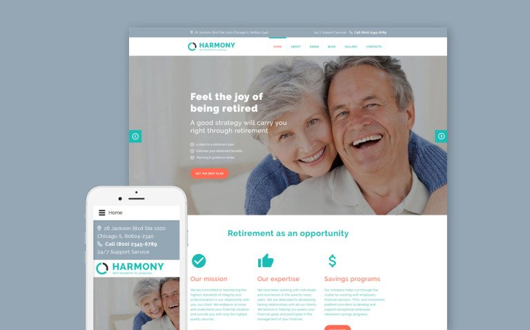 Harmony - Retirement Planning Joomla Template New Screenshots BIG