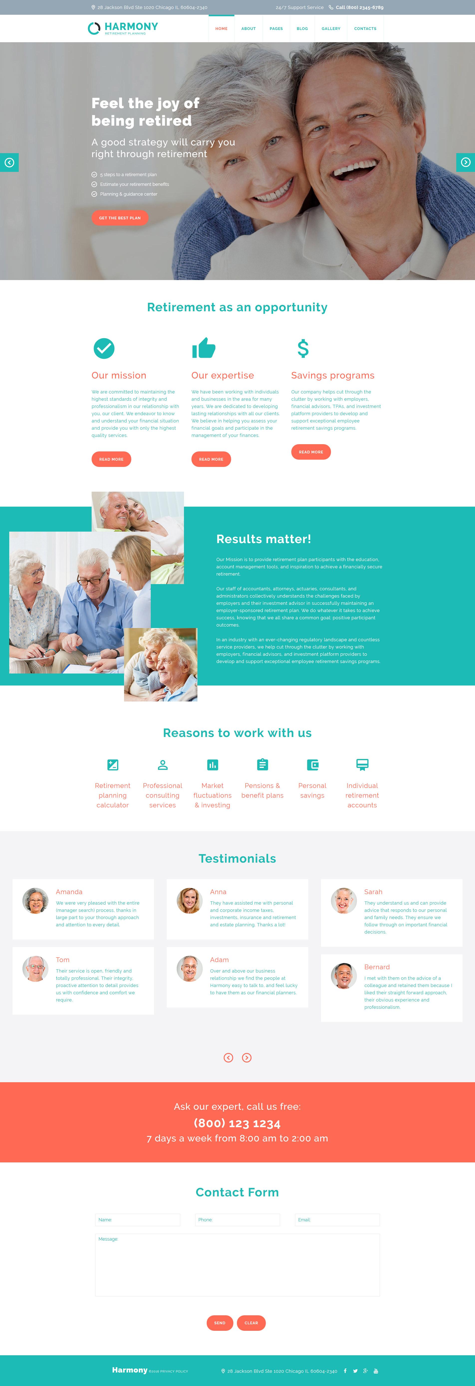 Harmony - Retirement Planning Joomla Template - screenshot