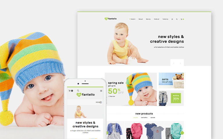 Infantello - Infant Clothing Store PrestaShop Theme New Screenshots BIG