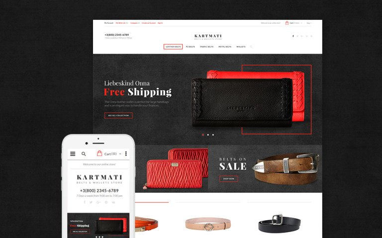 Kartmati - Leather Goods & Accessories Magento Theme New Screenshots BIG