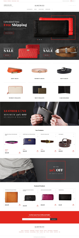 Kartmati - Leather Goods & Accessories Magento Theme