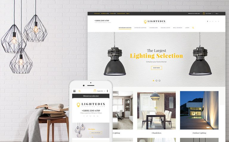 Lightedix - Lightning Store Responsive Magento Theme New Screenshots BIG
