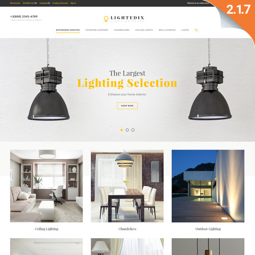 Lightedix  - Magento Template based on Bootstrap