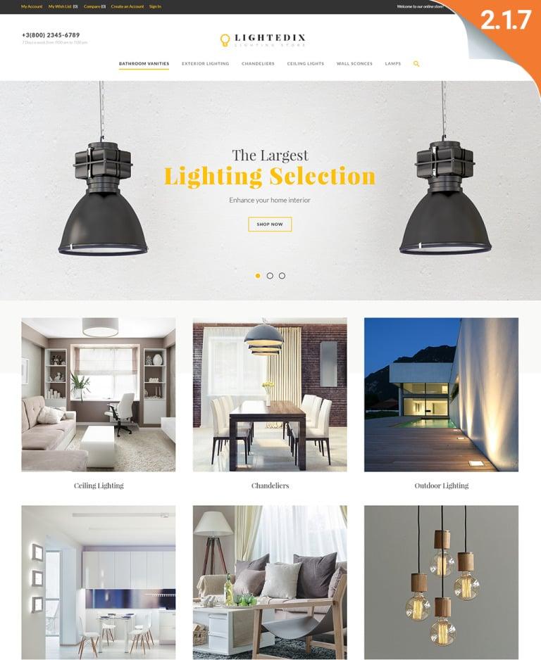 Lightedix - Lightning Store Responsive Magento Theme New Screenshots BIG
