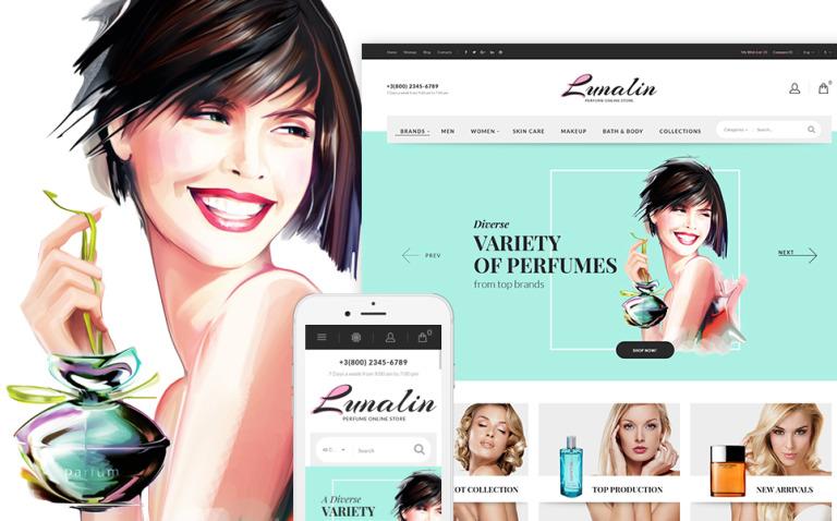 PrestaShop шаблон для магазина парфюмерии