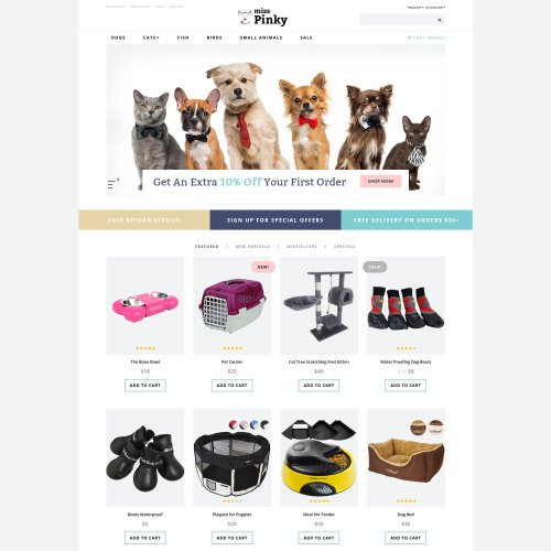 Miss Pinky - OpenCart Template based on Bootstrap