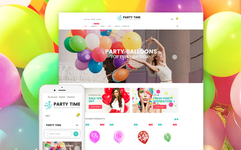 PartyTime - Entertainment Responsive Shopify Theme New Screenshots BIG