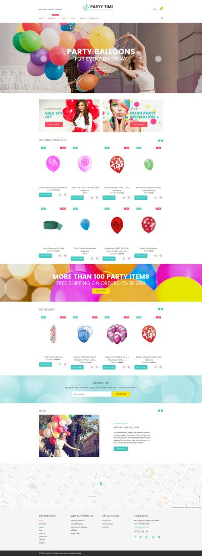 Responsywny szablon Shopify #61413 na temat: rozrywka
