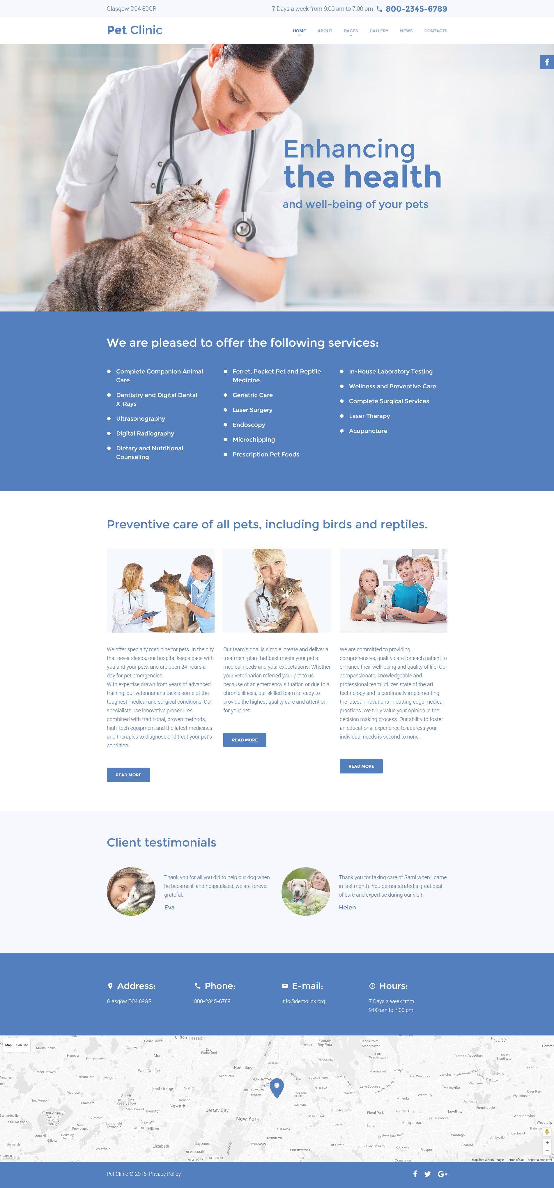 Pet Clinic - Vet Medicine Responsive Joomla Template - screenshot
