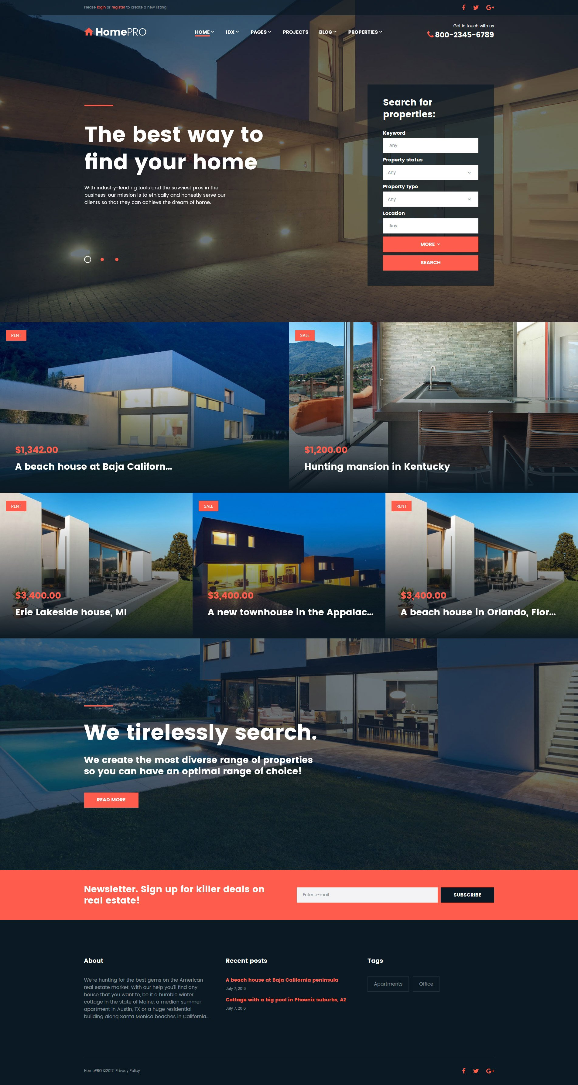 Real Estate Templates | TemplateMonster