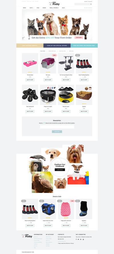 Pet Shop Responsive OpenCart šablona