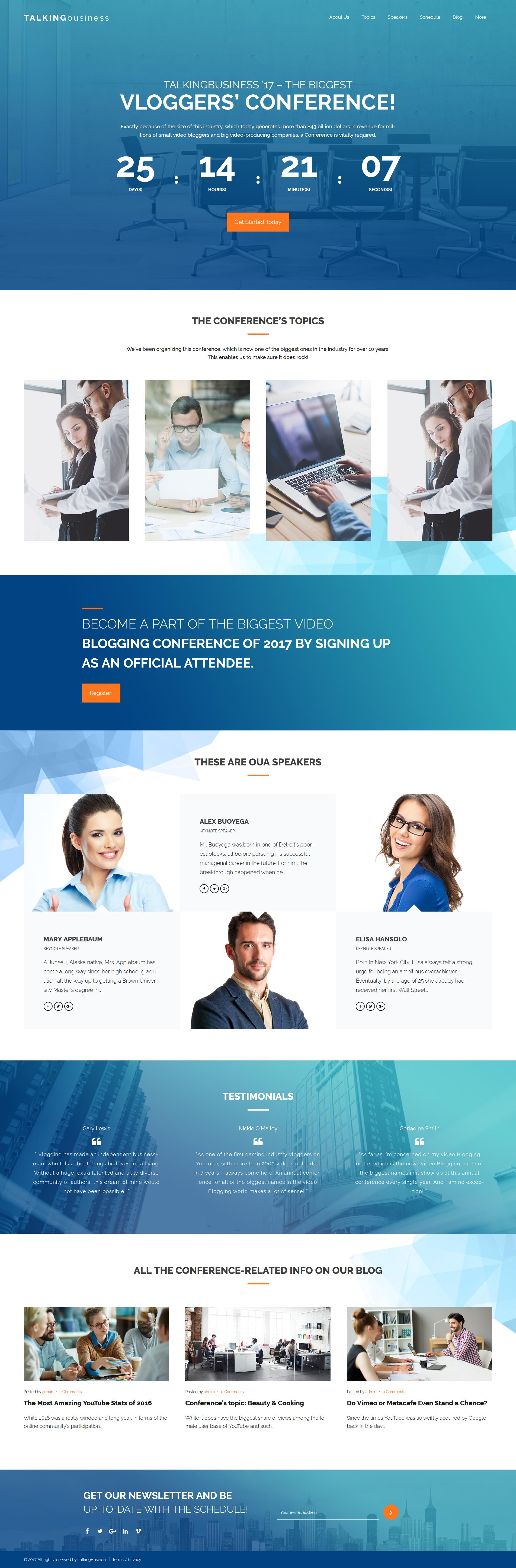 "Responzivní WordPress motiv ""Talking Business - Business Coaching & Consulting"" #61417"