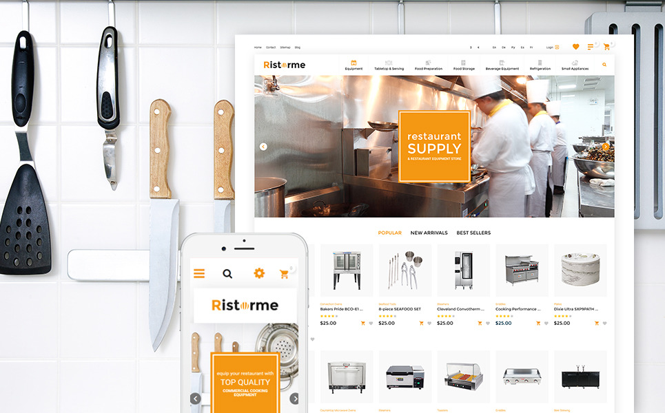 Ristorme - Restaurant Equipment & Houseware PrestaShop Theme New Screenshots BIG