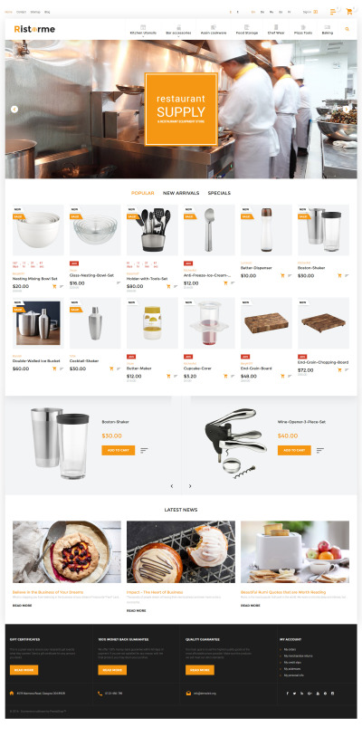 Ristorme - Restaurant Equipment & Houseware PrestaShop Theme