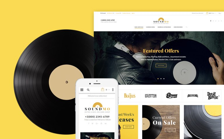 SoundMo - Vinyl & Audio Products Magento Theme New Screenshots BIG