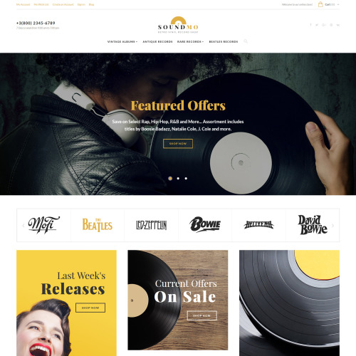 Soundmo  - Magento Template based on Bootstrap