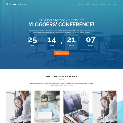 Event Planner Responsive WordPress Theme #43468