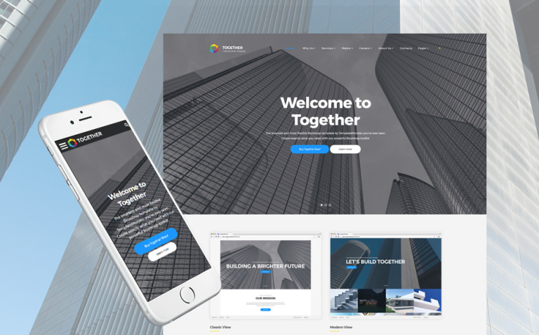 Together Construction Company Website Template New Screenshots BIG