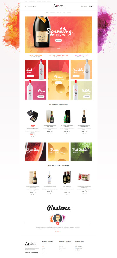 VirtueMart шаблон №61400 на тему вино