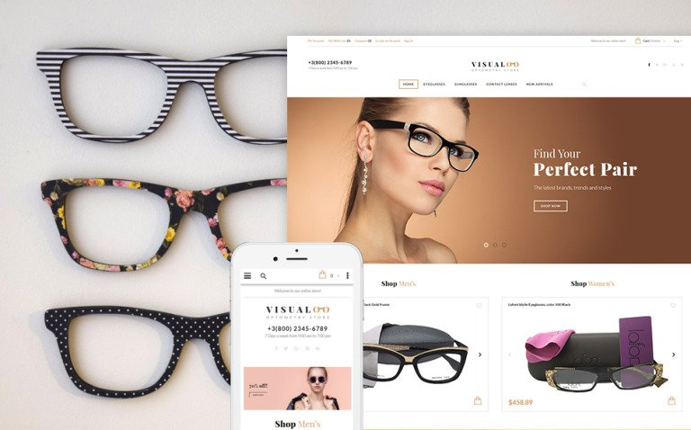 Visualoo - Optics & Optometry Magento Theme New Screenshots BIG