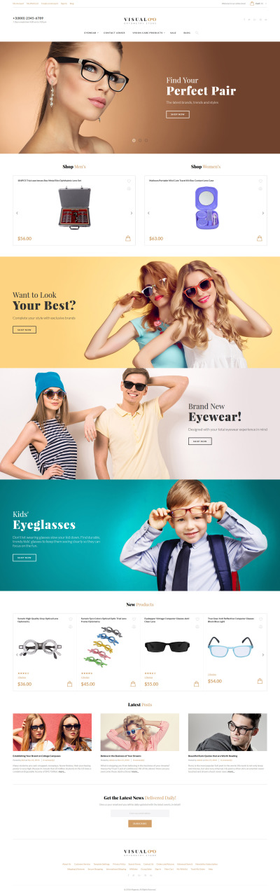 Visualoo - Optics & Optometry Magento Theme