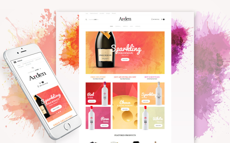 Wine Responsive VirtueMart Template New Screenshots BIG