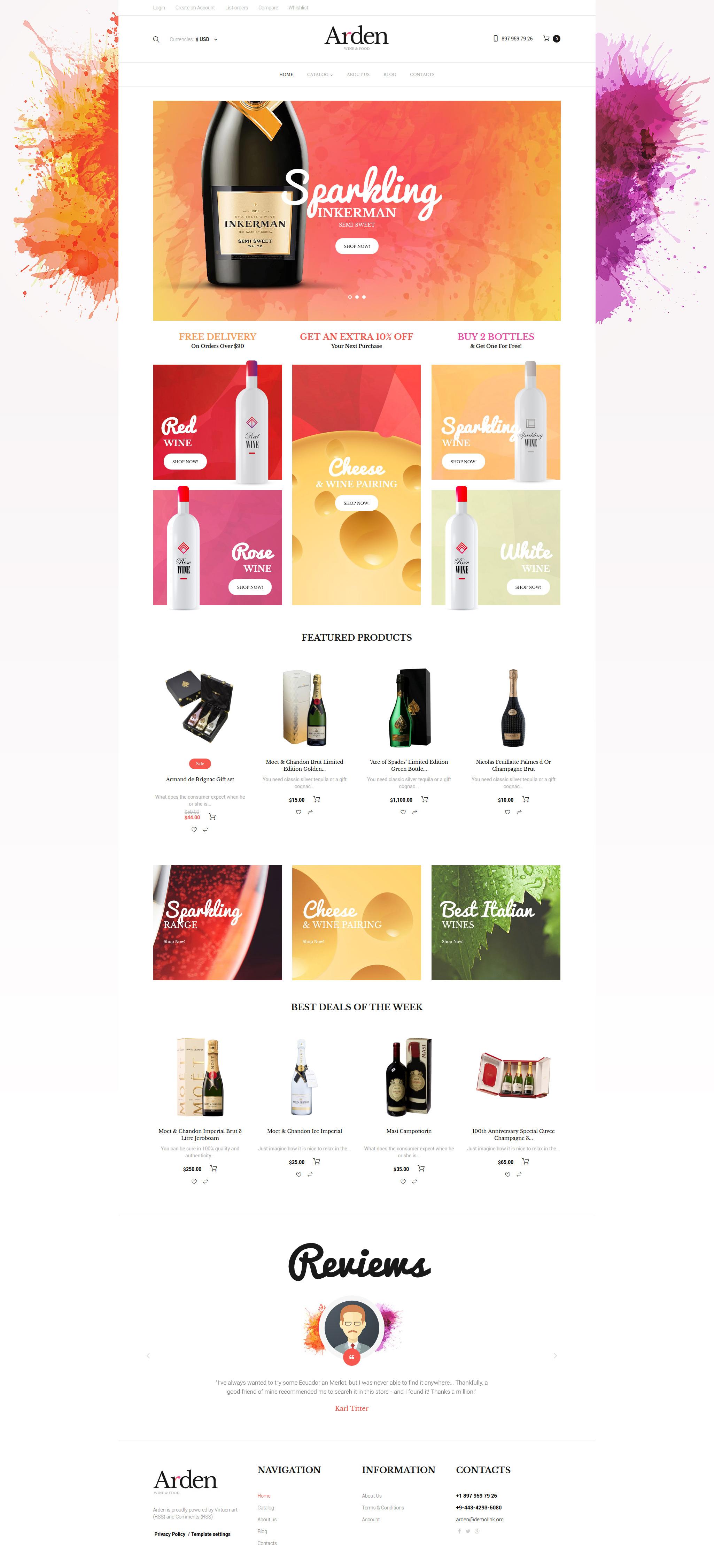 Wine VirtueMart Template