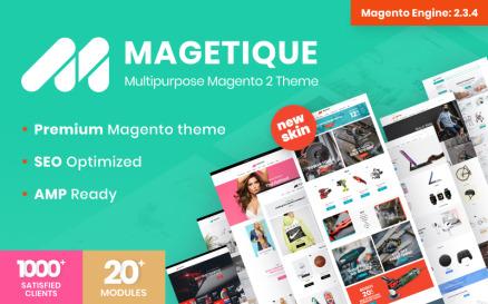 Magetique - AMP-Ready Multipurpose Magento 2 Theme Magento Theme