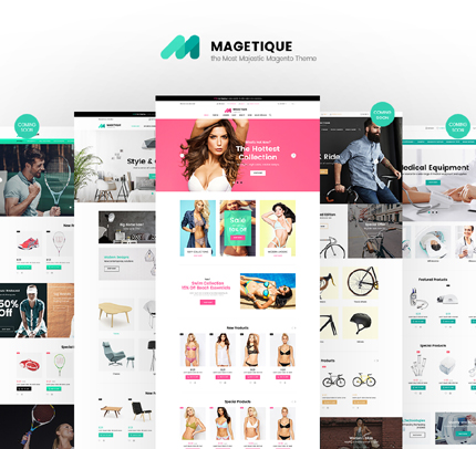 Универсальный шаблон конструктор интернет магазинов на любую тему - Magetique
