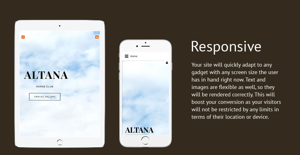 Altana Horse  Responsive Joomla Template