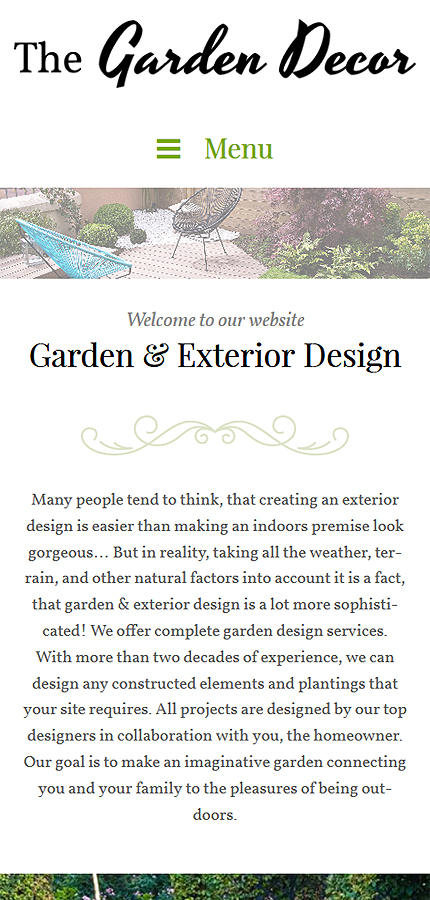 Template #62020 Garden Decot WordPress Themes - Smartphone Layout 1